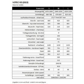 VOTEC VD Framekit - Cadre - gris/noir